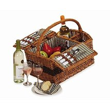 Largo Picnic Basket Insulated Wicker Set Cooler Person 2 - $129.36