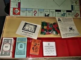 MONOPOLY GAME: Original Box, Game Board, Cards, Money VINTAGE 1957 image 5