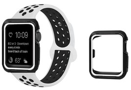 Replacement Sport Band + Case For Nike+ Apple iWatch Watch 123 White Bla... - $13.09