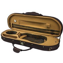 Sky Violin Halfmoon Case VNHM02 Lightweight with Hygrometer Coffee/Khaki... - $98.99