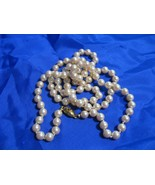 """Monet Long Pearl or Double Strand Choker Necklace 29"""" Gold Clasp NWOT - $14.01"""