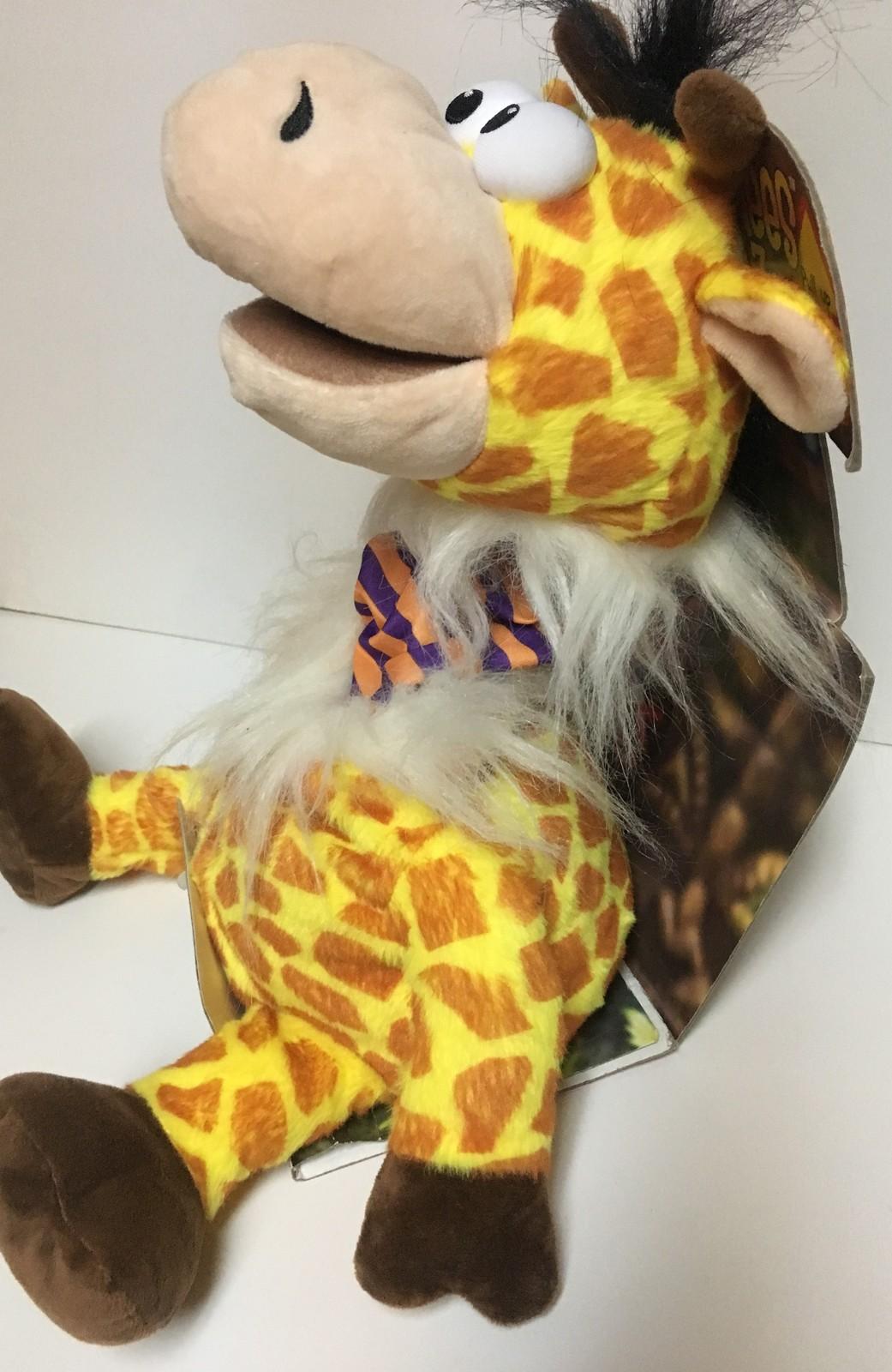 "Mimic Mees Talk Back Zoo 14"" inches Giraffe Jay At Play Plush Puppet Talks"