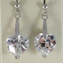 Ohrringe aus Silber 925 Rhodiniert mit Hörmuschel Hard Zirkonia Kubische Herz image 1