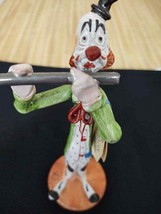 Vintage T P Ceramiche ceramic clown; signed. Made in Italy playing flute - $23.03