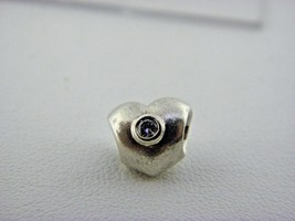 Pandora Sterling Silver White CZ Heart Charm Bead  - $24.50