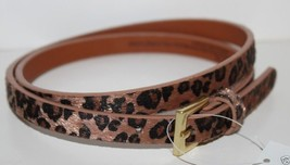Gap Kids NWT Girls XL 12 Leopard Faux Calf Skin Calf Hair Skinny Belt  3... - $23.88