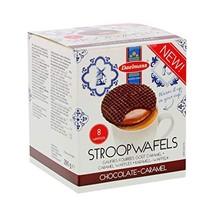 Daelman's Chocolate Caramel Stroopwafels 10.23 Ounce Cube 8 Waffles