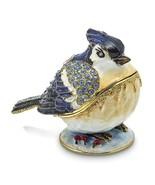 Bejeweled Crystal Enameled Bluejay Trinket Box - $76.99
