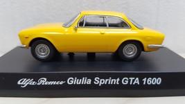 1/64 Kyosho Alfa Romeo GIULIA SPRINT GTA 1600 YELLOW diecast car model  - $29.39
