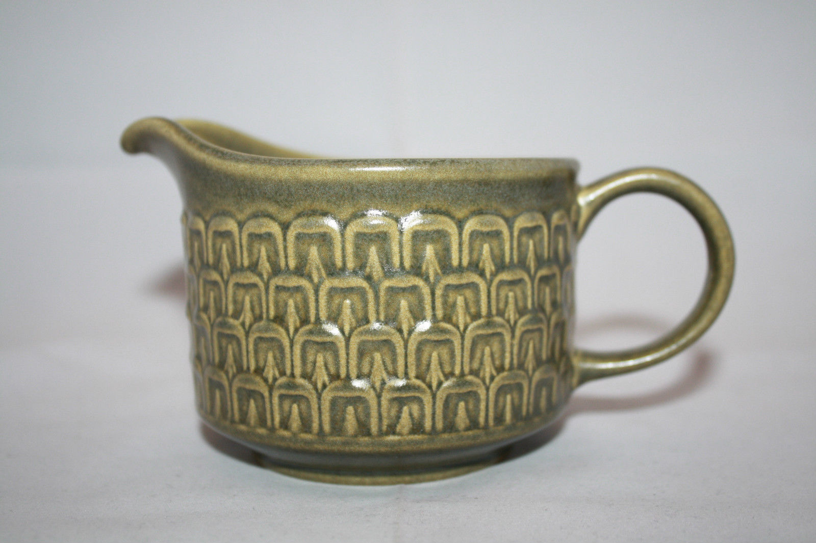 Vintage Wedgwood Cambrian Green Creamer  Made in England Retro Oven to Table