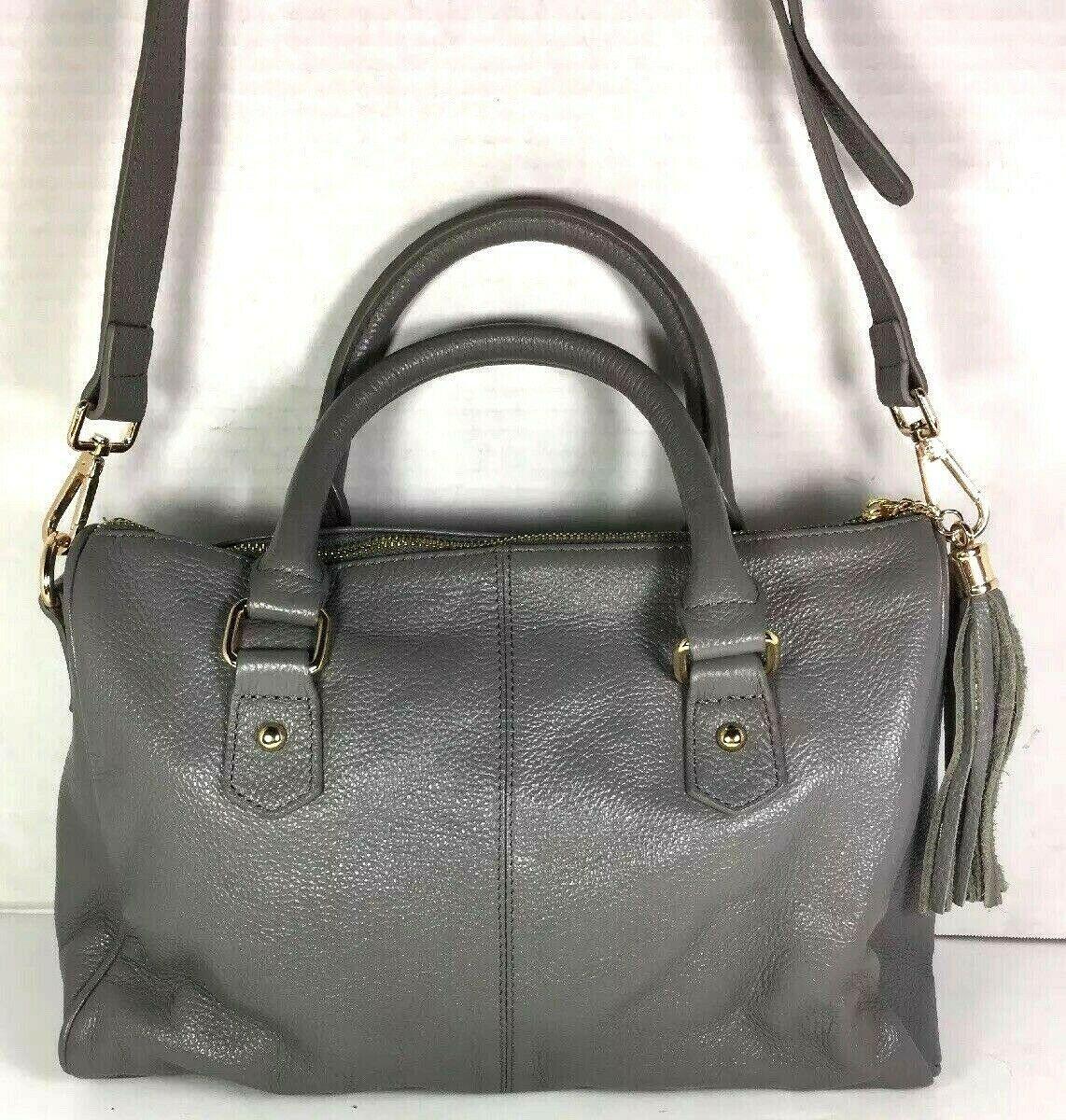 Erica Anenberg Grey Leather Cross Body Satchel Shoulder Bag image 2