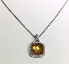 David Yurman Albion Pendant with Citrine and Diamonds, 14mm - $930.00