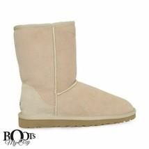 UGG CLASSIC SHORT SAND SHEEPSKIN WOMEN'S WINTER BOOTS SIZE US 6/UK 4.5/E... - $122.99