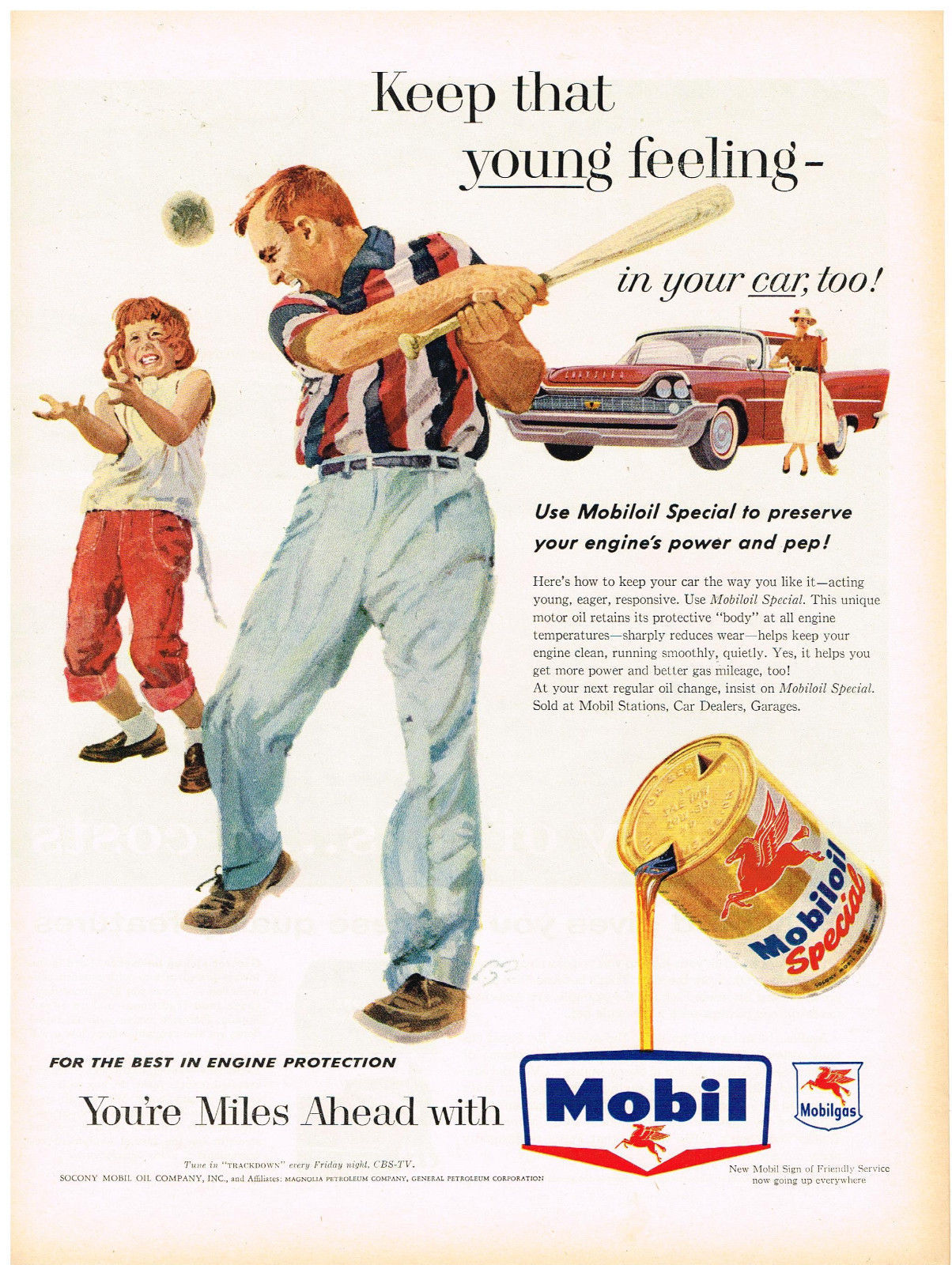 Collectibles Vintage 1940 Magazine Ad Mobiloil Special Use For The Best Engine Protection