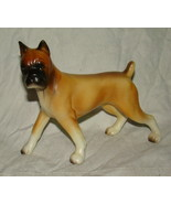 """Vtg BOXER DOG Ceramic Pottery Porcelain Figurine Figure Japan Clover 5.25"""" - $9.99"""