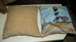 Pair of Lighthouse Decorative Print Throw Pillows  17 x 17 - $59.95