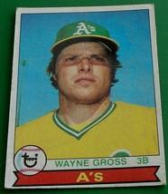 Wayne Gross, A's, 1979, #528 Topps Baseball Card, VG COND - $0.99