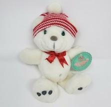 VINTAGE 1997 PRECIOUS MOMENTS SNOPAWS WHITE TEDDY BEAR STUFFED ANIMAL PL... - $32.73