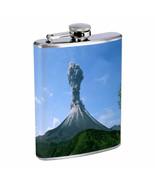 Volcanoes D1 Flask 8oz Stainless Steel Hip Drinking Whiskey - $13.81