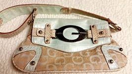 Authentic Guess Handbag with GGG Pattern used Small handbag purse - $18.00