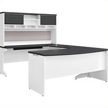 Executive Office U Shaped Desk Set Hutch Credenza Bridge Big Business Fu... - €1.022,31 EUR