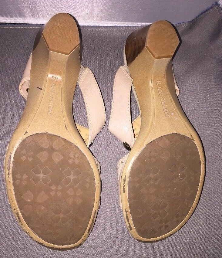 49c763087b63 Naturalizer N5 Comfort Adria Open Toe Slides Shoes Womens Tan Size 8.5