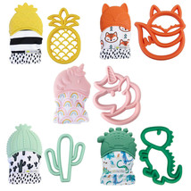 Itzy Ritzy Teething Happens 2 pc Gift Sets Teether Mitt & Silicone Teether  - $19.99