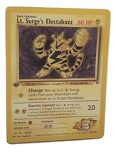 Pokemon Card 1st Edition Lt. Surge's Electabuzz (27/132) Gym Heroes Set ... - $5.99
