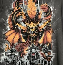 Harley Davidson T Shirt Smoky Mountains Maryville TN Size 2XL Dragon Motorcycles - $34.60