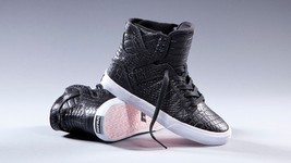 SUPRA x PINK PARTY Limited Ed Black Crocodile Embossed EUC SKYTOP SHOES ... - $148.00