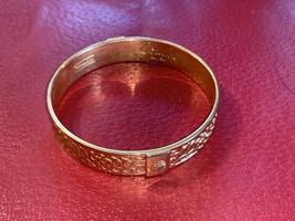 COACH Brand Gold Tone Bangle Bracelet Signature  - $0.98