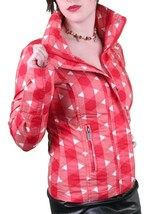 Bench UK Urbanwear Womens BBQ Barbecue Star Red Jacket w Hood BLKA1552 NWT image 2