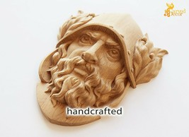 Dionysus Hand-carved Mask Reproduction Ancient Greek Oak Quality - $80.19+