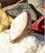 Beautiful Rose Gold Moon Stone Rose Gold Plated Ring - $17.82