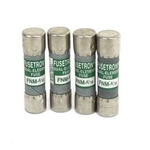 LOT OF 4 NEW COOPER BUSSMANN FNM-6/10 DUAL-ELEMENT FUSES
