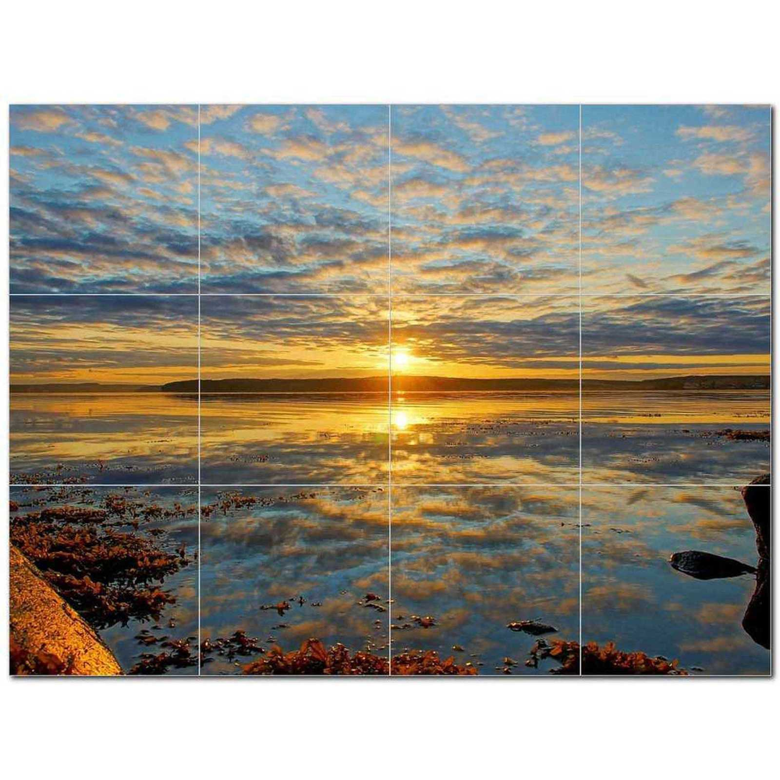 Primary image for Sunset Photo Ceramic Tile Mural Kitchen Backsplash Bathroom Shower BAZ405930