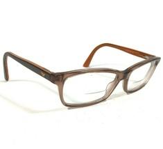 Emporio Armani Clear Brown Rectangular Cats Eye Eyeglass Frames EA9728 AR1 135 - $32.73