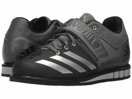 ADIDAS POWERLIFT 3 BLACK/SILVER/IRON WEIGHTLIFTING SIZE 8.5 NEW W/BOX (A... - $89.90