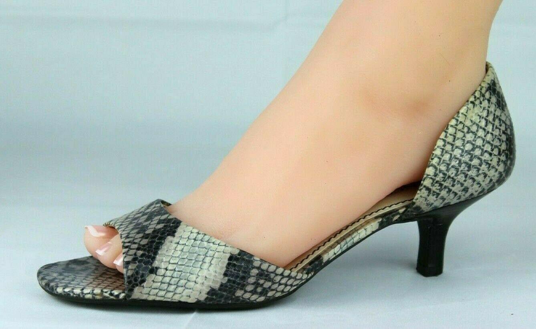 Franco Sarto L Dash Mujer Mediano Tacones Punta Abierta Animal Estampado Zapatos