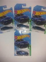 NEW Hot Wheels Tesla Model S Blue Metallic Lot Of 4 - $21.27