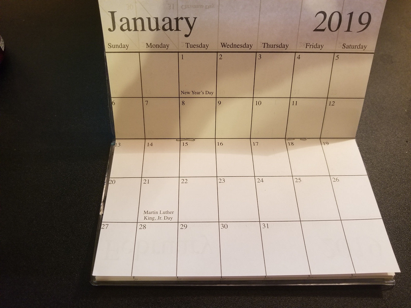 2018-2019 London Big Ben  2 Year  Pocket Planner Calendars