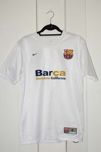 Herren Nike Fußball Trikot T-Shirt Barca Barcelona California Weiß GRÖSS... - $30.82