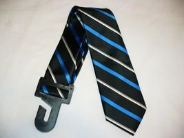 George Men's Neck Tie Blue Black Stripe Dress Tie New - $10.19
