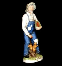Figurine of a Farmer with Squirrel Homco 1434 AA19-1618 Vintage image 1