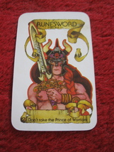 1981 DragonMaster Board game piece: Runesword Hand card - $1.00