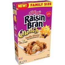 Kellogg's Raisin Bran, Breakfast Cereal, Vanilla Almond, Family Size, 22... - $7.00