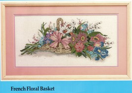 """Candamar Designs Counted Cross Stitch French Floral Basket Kit 20"""" x 10""""  - $21.99"""