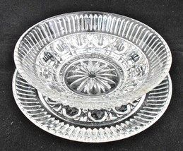 Royal Brighton Sauce/Dressing 2pc Crystal Glass Server Set - $14.00
