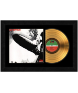 "Led Zeppelin ""First Album"" 17 x 26 Framed 24kt Gold Album with Album Cover  - $198.95"