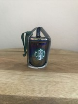 Starbucks Coffee Christmas Ornament Iridescent Black Luster Holiday Tree... - $18.80